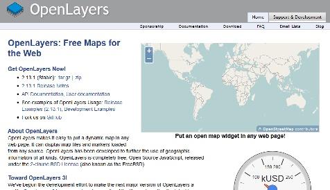 OpenLayersのホームページ