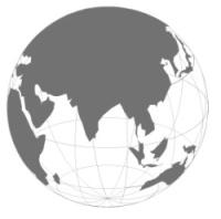 ほぼ球体をした地球