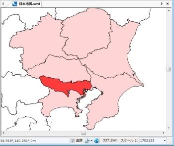緯度/経度.日本測地系2000の地図