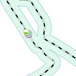 線路の両側から200メートル(合計400メートル)の幅を持った領域を算出
