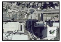位置情報を持たない空中写真データ
