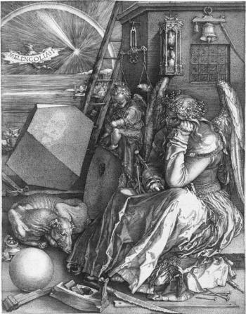 デューラーの銅版画「メランコリーI」にある4方陣
