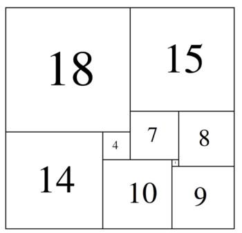 モロンによる正方形分割長方形(1925年)