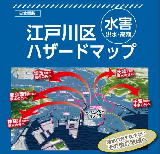 江戸川区水害ハザードマップの表紙